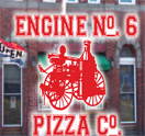 Engine 6 Pizza Co. Logo