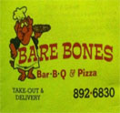 Bare Bones Bar-B-Q & Pizza Logo