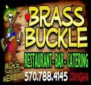 $25 Gift Certificate For $10 at Brass Buckle Restaurant & Bar.