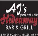 Aj's Hideaway Bar & Grill Logo