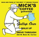 Mick's Drive Thru & Pick-Up Logo