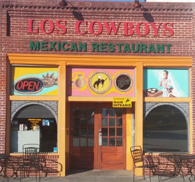 Los Cowboys Mexican Restaurant Logo