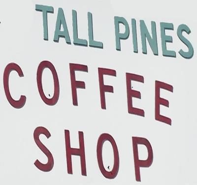 Tall Pines Coffee Shop Logo