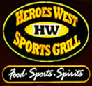 Heroes West Sports Grill Logo