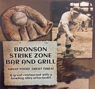 Bronson Strike Zone Bar and Grill Logo
