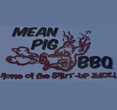 The Mean Pig BBQ Logo