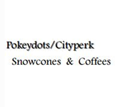 Pokeydots/City Perk Snowcones & Coffees Logo