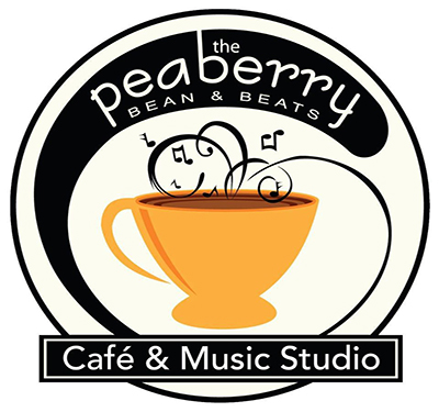 The Peaberry Bean & Beats Logo