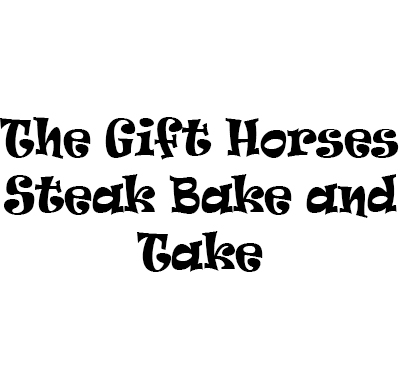 The Gift Horses Steak Bake and Take Logo