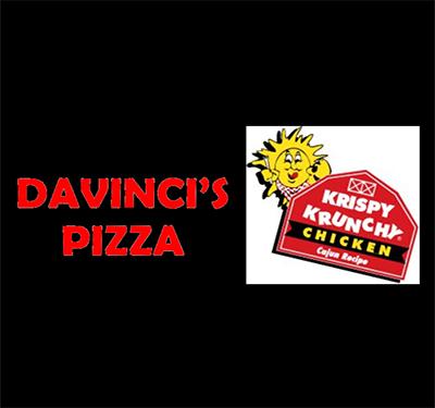 DaVinci's Pizza & Krispy Krunchy Logo