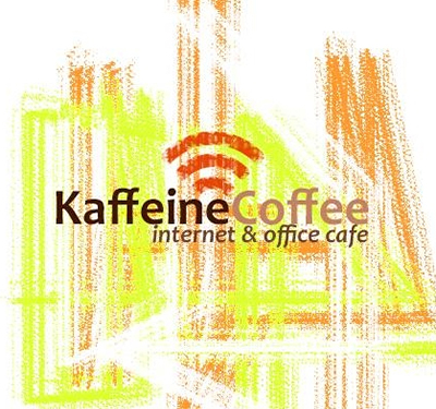 Kaffeine Coffee Internet & Office Cafe Logo