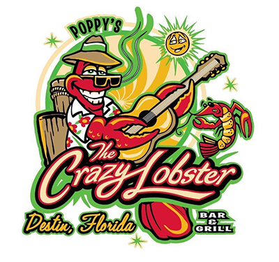 Poppy's The Crazy Lobster Logo