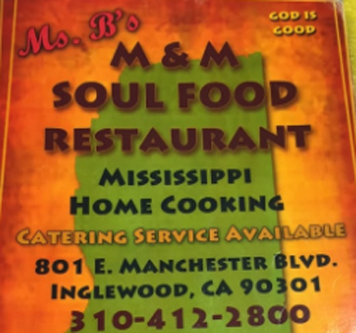 Ms B's M & M Soul Food Logo