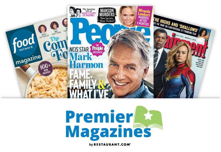 Premier Magazines in Anywhere, CA at Restaurant.com