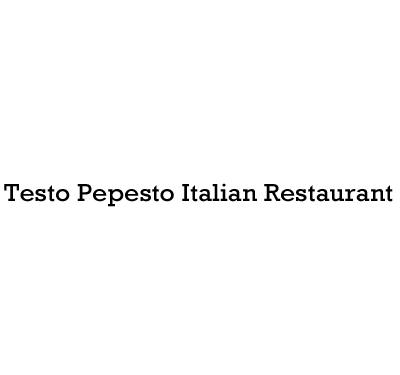 Testo Pepesto Italian Restaurant Logo