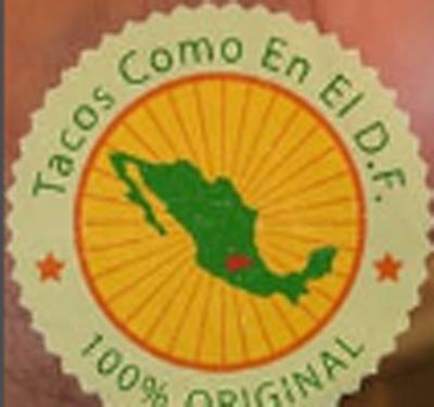 Tacos Como En El D.F. Taco Truck Logo