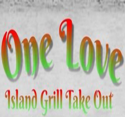 One Love Island Grill Take Out Logo