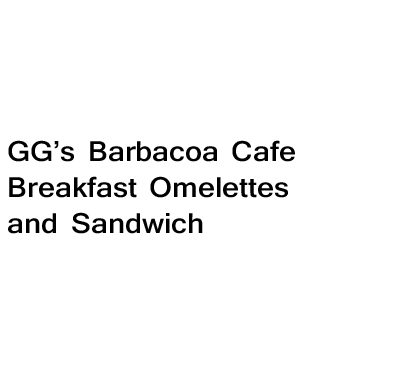 GG's Barbacoa Cafe Breakfast Omelettes and Sandwich Logo