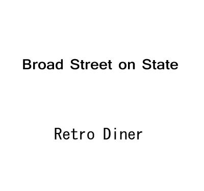Broad Street on State Retro Diner Logo