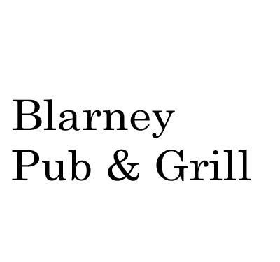 Blarney Pub & Grill Logo