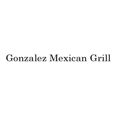 Gonzalez Mexican Grill Logo
