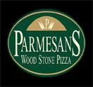 PARMESANS WOOD STONE PIZZA Logo