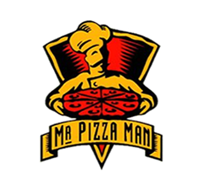 Mr. Pizza Man - San Mateo Logo