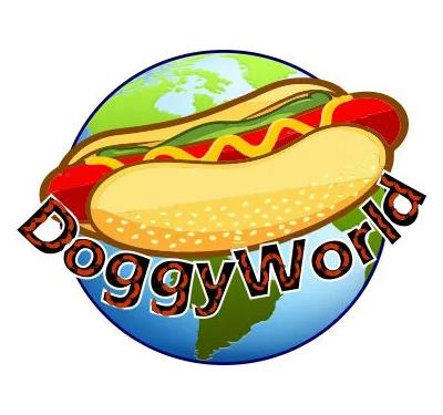 Doggy World Food Truck Logo