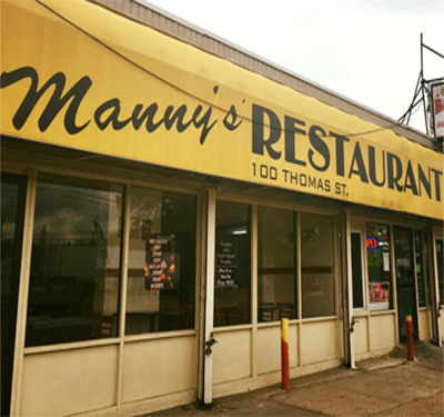 Manny's Restaurant BBQ & Deli Logo