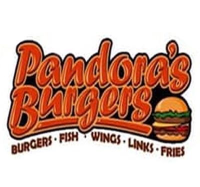 Pandora's Burgers Logo
