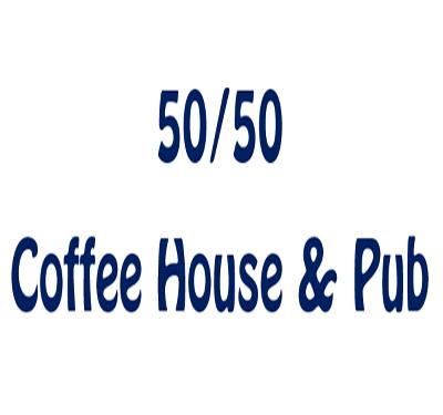 50-50 Coffee House & Pub Logo