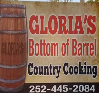 Gloria's Bottom of the Barrel Country Cooking Logo