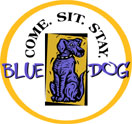 Blue Dog Family Tavern Logo