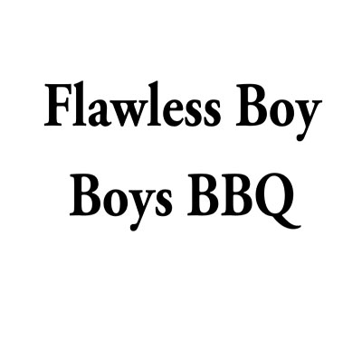 Flawless Boy Boys Bbq Logo