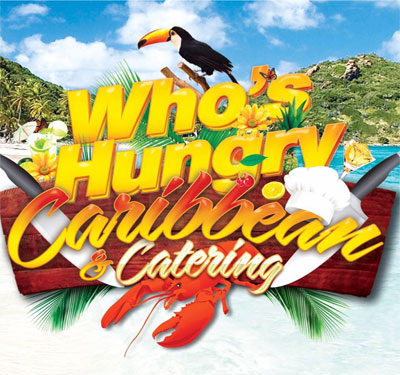 Who's Hungry Caribbean & Catering Logo