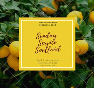 Sunday Service Soul Food Logo