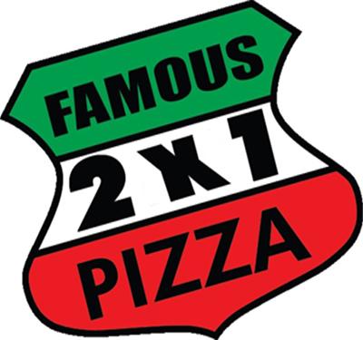 Famous 2x1 Pizza Logo