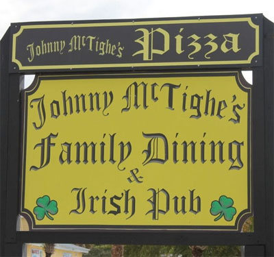 Johnny McTighes Irish Pub Logo