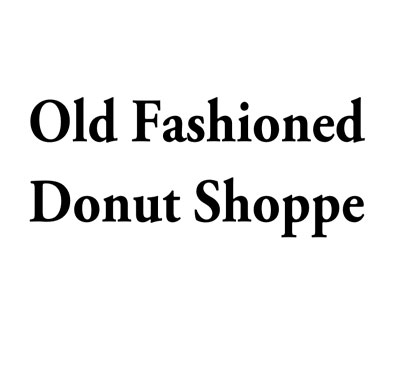 Old Fashion Donut Shop Logo