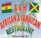 A & H African & Jamaican Restaurant Logo