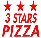 3 Star Pizza Logo