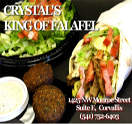 Crystals Cafe King of Falafel Logo